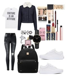 """School"" by madisonkiss on Polyvore featuring Moschino, ROSEFIELD, Victoria's Secret, Givenchy, Too Faced Cosmetics, NARS Cosmetics, Guerlain, Maybelline, Charlotte Russe and Paul & Joe Sister"