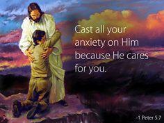 ❤️️️️Bible verses ~ 1 Peter 5:7