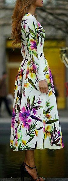 oh, floral maxi dress, how are you so pretty?