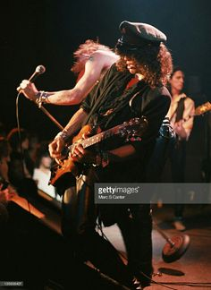 young Slash and Axl Rose