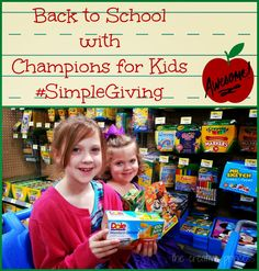 Back to School with Champions for Kids #SIMPLEgiving #cfk #shop