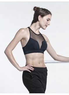 6f2f231f9b V Mesh Bra Top in Black  fitness  clothing Black Fitness