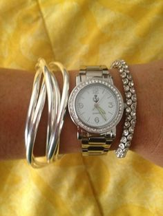 Up To Date watch, Flirty bracelet, and Special Day bracelet by Premier Designs.