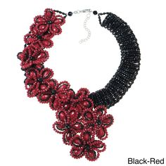 Infinite Blossoms Dazzling Crystals Statement Necklace (Thailand) | Overstock.com Shopping - The Best Deals on Necklaces