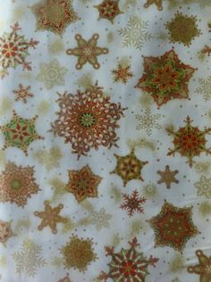 Cotton Fabric, Home Decor, Quilt, Craft, Christmas,Snowflakes Holiday Flourish 8, Kaufman,HC172 Fast Shipping