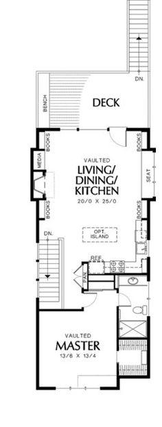 Narrow Craftsman Plan With Covered Porch   Floor Plan   Floor