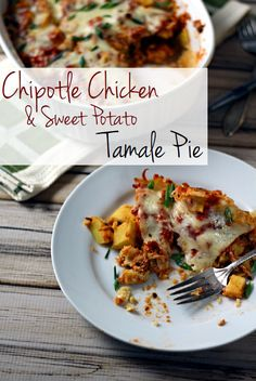 Chipotle Chicken & Sweet Potato Tamale Pie - the secret to real tamale flavors without all that hard work!