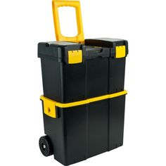 Stalwart in. Stackable Mobile Tool Box with Wheels, Black Stalwart in. Stackable Mobile Tool Box with Wheels, Black