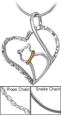 Love Cat Sterling Necklace at The Animal Rescue Site...I love this necklace and if you go to the pages home page you can click to give free meals for the animals. Please consider helping. It is no cost to click.