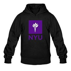 XIULUAN Men's Nyu New York University Logo Hoodied Sweatshirt M ColorName Long Sleeve