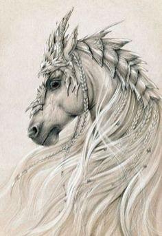 Elven horse 2 by Anwaraidd on deviantART * Fantasy Myth Mythical Mystical… Horse Drawings, Animal Drawings, Art Drawings, Pretty Horses, Beautiful Horses, Majestic Horse, Fantasy Kunst, Fantasy Art, Fantasy Creatures