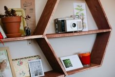 DIY Honeycomb Shelves   Shelterness