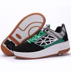 b31903f94314b5  wheelys  grey  green black  white  unisex. Wheelys Roller Shoe