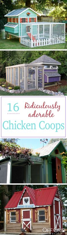 Building a Chicken Coop 16 envy-worthy chicken coops! Building a chicken coop does not have to be tricky nor does it have to set you back a ton of scratch.