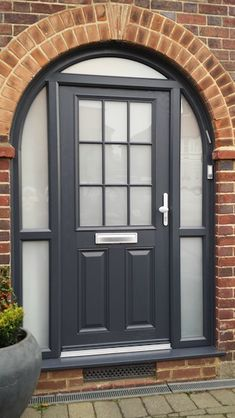 Front And Entry Doors For Your House – The Homeward View Front Garden Entrance, Front Door Entryway, Front Door Porch, Porch Doors, House Doors, House Entrance, Entrance Doors, House Front, Porch Uk