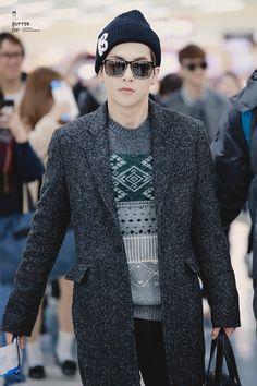 141117- EXO Xiumin (Kim Minseok); Gimpo Airport to Tokyo Airport #exom #fashion #style