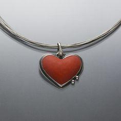 Enamel Jewelry, Jewelry Art, Unique Jewelry, Sacred Heart, Handmade Art, Metal Working, Jewelery, Pendants, Silver