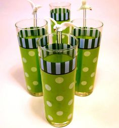 vintage polka dot glass tumblers - Google Search