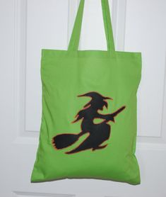 Halloween Bags, Halloween Trick Or Treat, Handmade Shop, Etsy Handmade, Handmade Gifts, Scottish Gifts, Trick Or Treat Bags, Wicked Witch, Reusable Bags