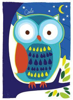 Moonlight Owl by Kristen Cavallo