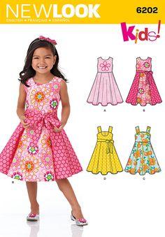 NL6202 Child's Dress & Sash