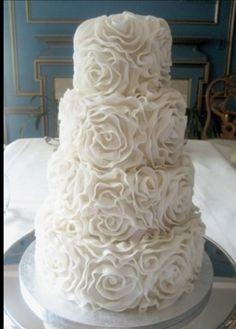 Roses Buttercream Multi Tier Wedding Cake