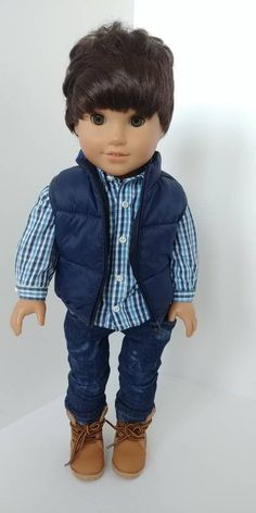 """Truly Navy Blue Deck Sneakers for American Girl or Boy 18/"""" Baby 15/"""" Doll Shoes"""