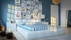 The design and décor for baby bedroom focuses on color factors associated with the particular sample interior design.