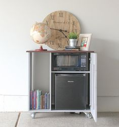 Mini Fridge Storage Mini Refrigerator And Microwave Storage Cabinet I Need This For My Guest Room Dorm Room Mini Fridge Storage - Dorm Room 2020 Dorm Storage, Dorm Room Organization, Office Storage, Bedroom Storage, Bedroom Sets, Storage Ideas, Smart Storage, Storage Solutions, Organization Ideas