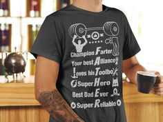 GREAT FATHER'S DAY SHIRT! https://teespring.com/father-champion-farter-hero FATHER Champion Farter Your best Alliance Loves his Toolbox Super Hero Best Dad Ever Super Reliable with tools, dad farting, super hero, weights, #1 ribbon, and more!