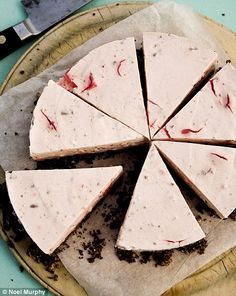 ULTRA YUM! turkish delight cheesecake with turkish delight inside. marcus wareing) the greatest dessert/pastry chef alive!)