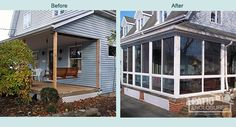 Want To Transform Your Cleveland, OH Patio Or Porch Into A Three Season  Sunroom? View Before And After Photos U0026 Learn How Patio Enclosures Helped  These ...