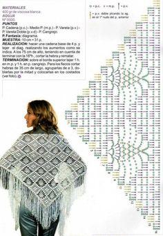 Kira scheme crochet: Scheme crochet no. 950