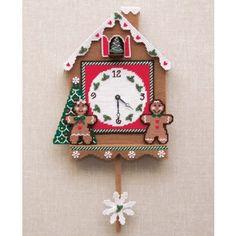 Mary Maxim - Gingerbread Clock Plastic Canvas Kit - Plastic Canvas Kits - Plastic Canvas - Crafts
