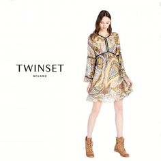 87af2b15fe1e Abito Morbido Stampa Paisley Multicolor – Scee by Twinset