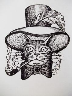 Russian Cat Tattoo