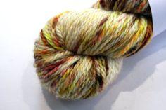 Aran - 100% British Bluefaced Leicester (superwash) yarn (Calico) by OxfordKitchenYarns
