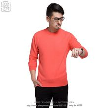 Sales Promotion Winter New Brand Men's O Neck 100 Mink Cashmere Sweater color Pullover For man christmas blusas masculina(China (Mainland))