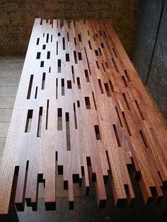 brooklyn woodworking table. Interesting table top. Easy to ... | Wood…