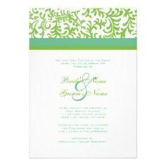 Apple Green Wedding Invitation Template