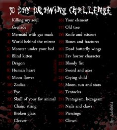 Dark/ creepy drawing challenge