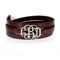 Bracelet cuir monogramme