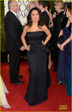 Salma Hayek - Golden Globes 2013 Red Carpet