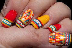 South American inspired mani