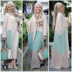Ramadan hijab style outfits – Just Trendy Girls Islamic Fashion, Muslim Fashion, Modest Fashion, Muslim Dress, Hijab Dress, Modest Outfits, Chic Outfits, Fashion Outfits, Mode Kimono
