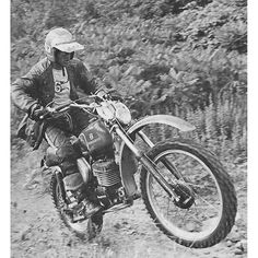 King Richard... 74 to 1981, Dick Burleson won eight consecutive AMA National Enduro Championships, a record so extraordinary that it may never be broken. In addition to his incredible domestic record, Burleson also won an amazing eight consecutive gold medals in the International Six Days Trials (now called the International Six Days Enduro). Among American off-road racers, Burleson is one of the all-time greats.  via ✨ @padgram ✨(http://dl.padgram.com)