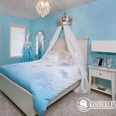 A Frozen inspired room fit for a Snow Queen!  Credit to Kimberly Homes