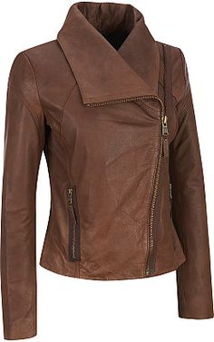 Marc New York Leather Envelope-Collar Jacket - Wilsons Leather