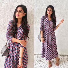 Get along an occurrence look with a stunning signal to produce a stunning gown. Western Dresses, Indian Dresses, Indian Outfits, Western Outfits, Kurta Designs, Blouse Designs, Ethnic Fashion, Indian Fashion, Women's Fashion