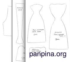 Выкройка лягушки с одеждой - Школа Панпина